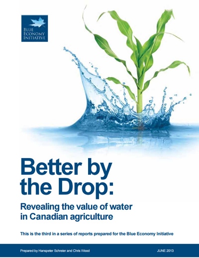 Better by the Drop: Revealing the value of water in Canadian agriculture