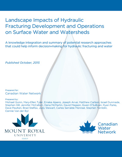 Landscape Impacts of Hydraulic Fracturing Development and Operations on Surface Water and Watersheds