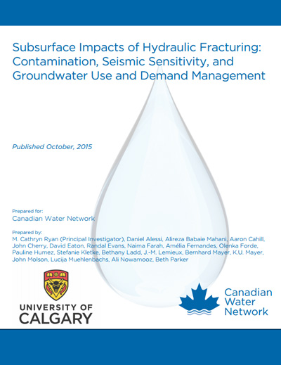 Subsurface Impacts of Hydraulic Fracturing: Contamination, Seismic Sensitivity, and Groundwater Use and Demand Management