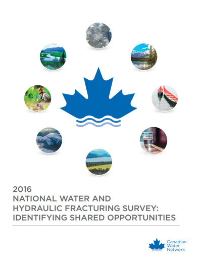 2016 National Water and Hydraulic Fracturing Survey: Identifying Shared Opportunities